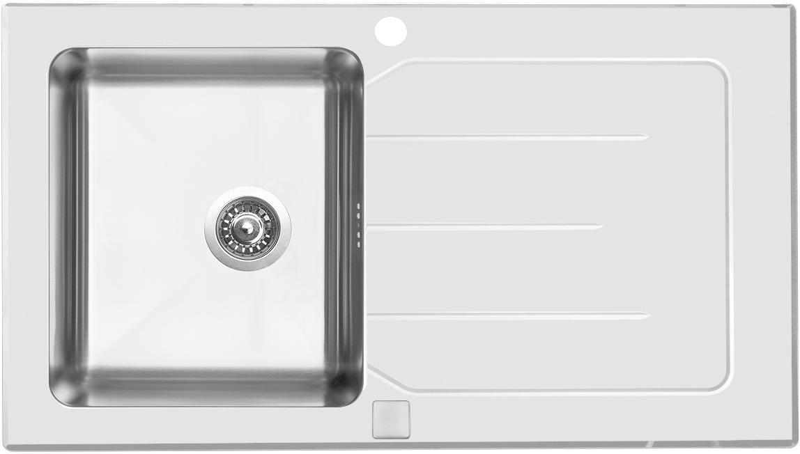 Sinks VITRUM 860 V 1mm kartáčovaný bílý