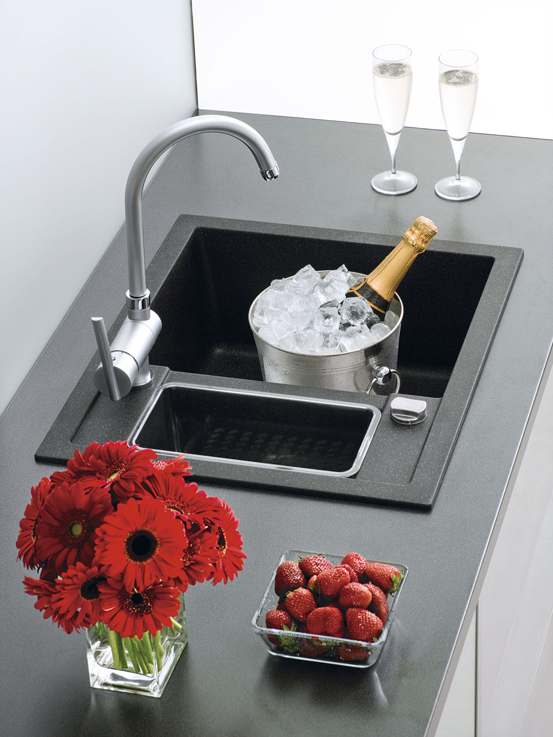 Sinks CRYSTAL 615.1 Metalblack