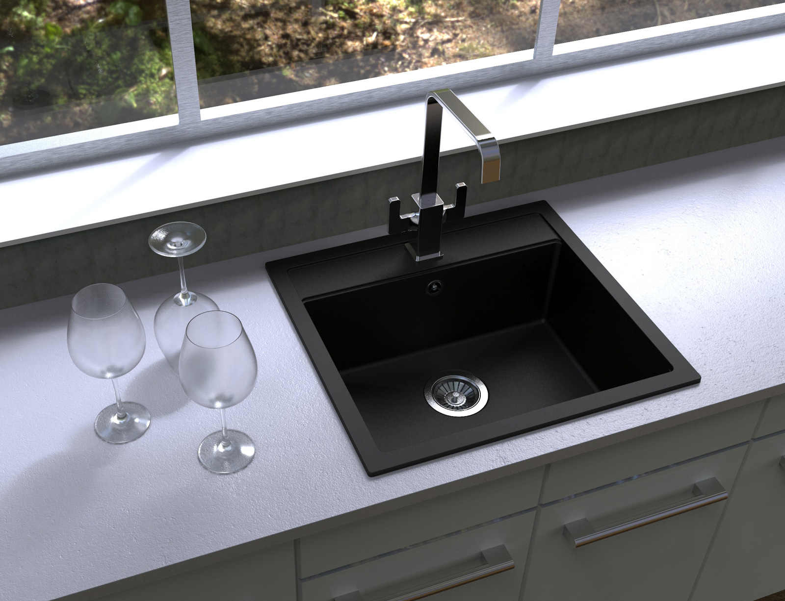 Sinks SOLO 560 Metalblack