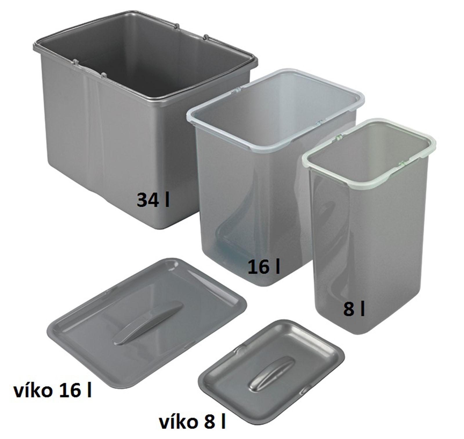 Sinks samostatný koš 34 l
