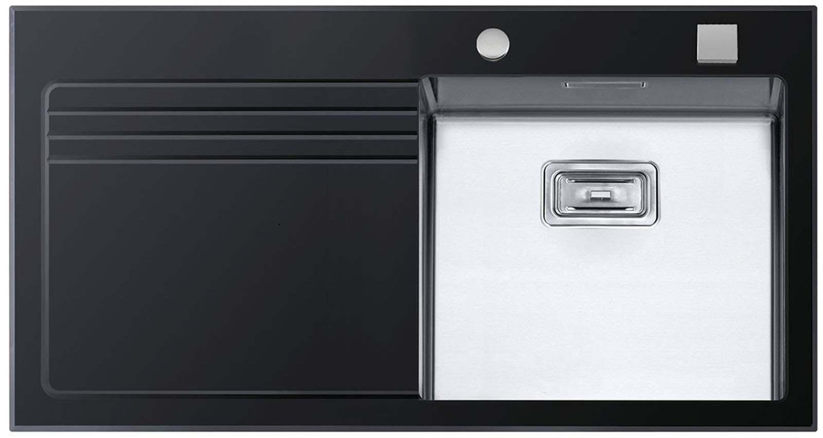 Sinks GLASS 1000 černý pravý 1,2mm
