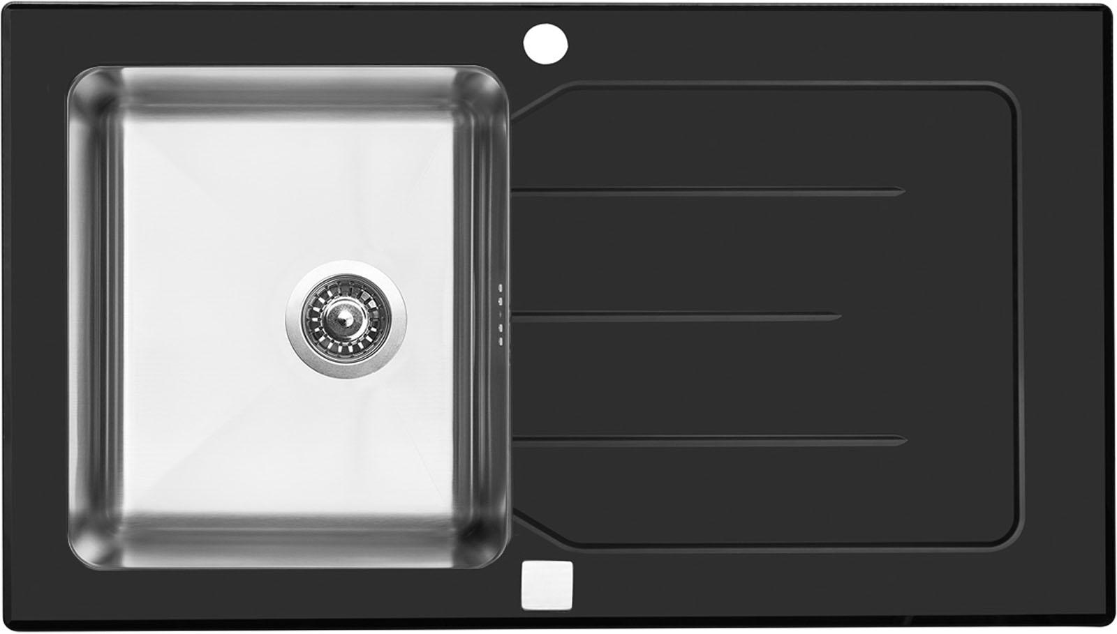 Sinks VITRUM 860 V 1mm kartáčovaný černý