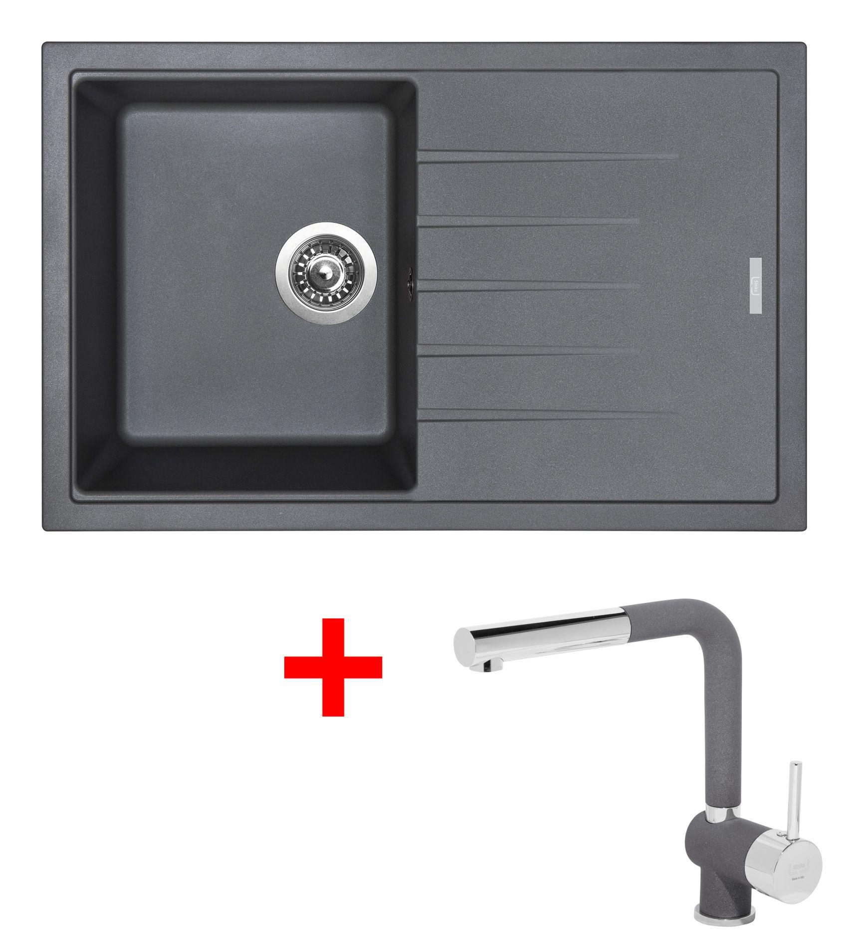 Set Sinks BEST 780 Titanium+MIX 3P GR