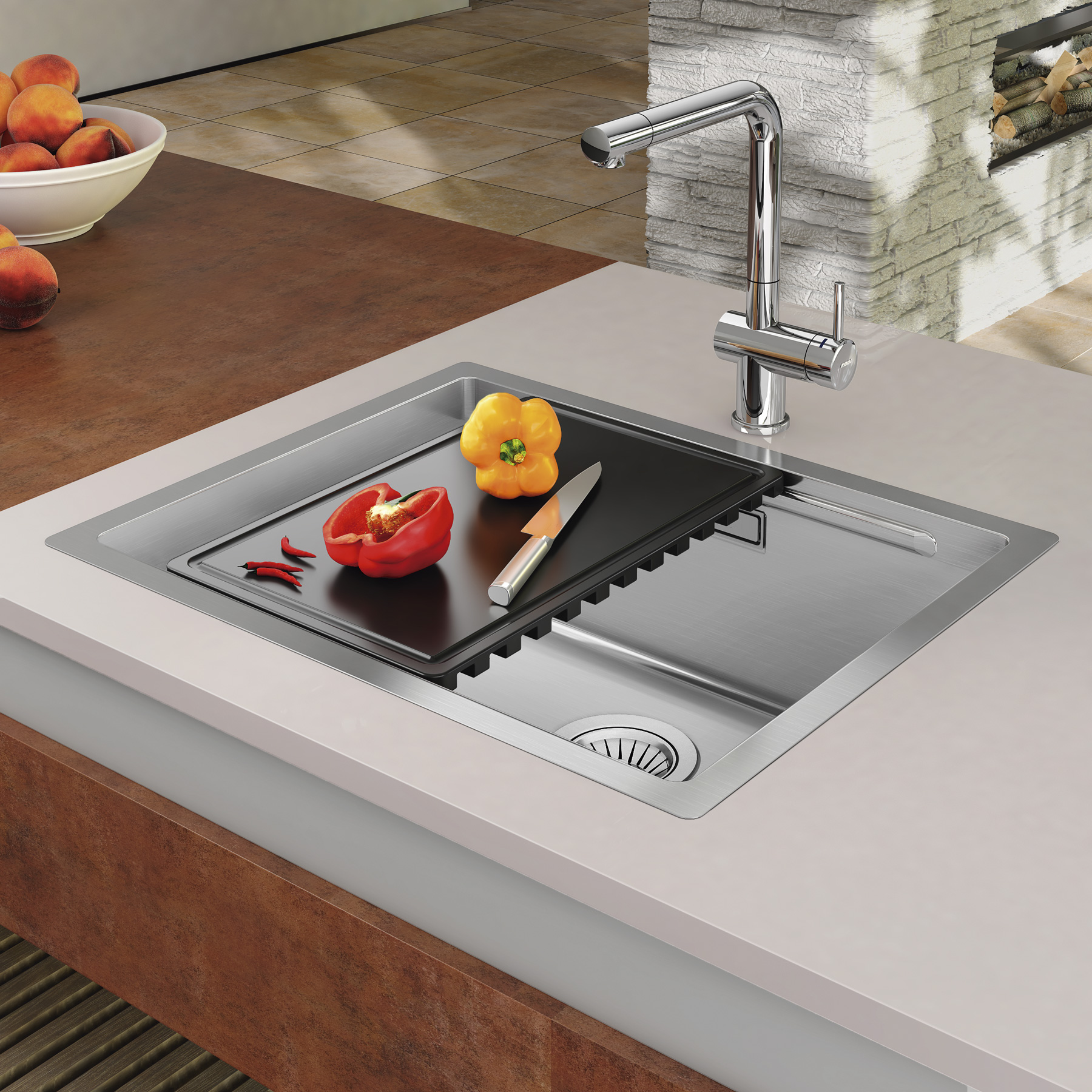 Sinks BOXSTEP 790 RO 1,0mm + VERSUS